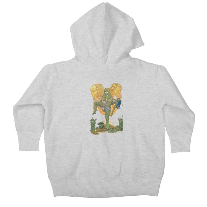 She Creature Kids Baby Zip-Up Hoody by Ayota Illustration Shop