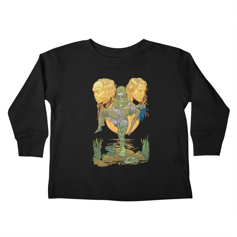 She Creature Kids Toddler Longsleeve T-Shirt by Ayota Illustration Shop