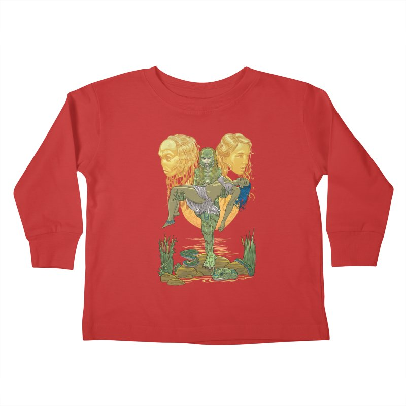 She Creature Kids Toddler Longsleeve T-Shirt by Ayota Illustration Shop