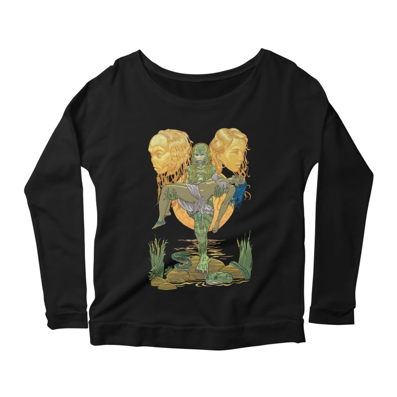 She Creature Women's Scoop Neck Longsleeve T-Shirt by Ayota Illustration Shop