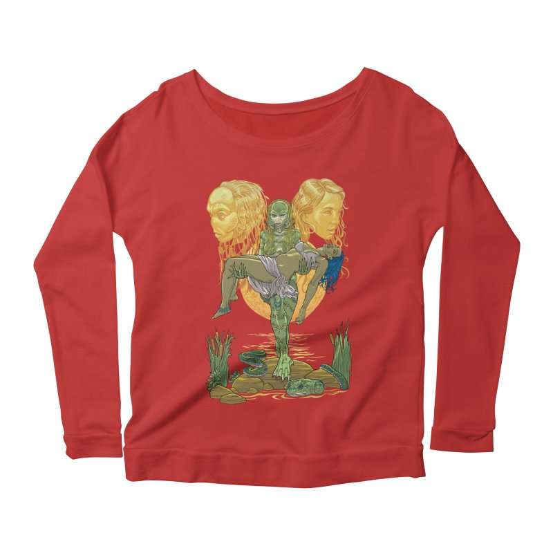 She Creature Women's Longsleeve Scoopneck  by Ayota Illustration Shop
