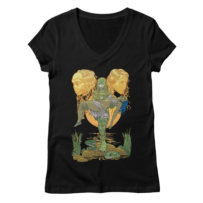 She Creature Women's V-Neck by Ayota Illustration Shop