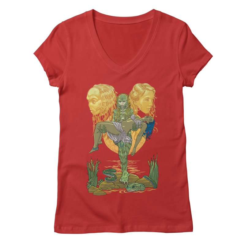 She Creature Women's Regular V-Neck by Ayota Illustration Shop