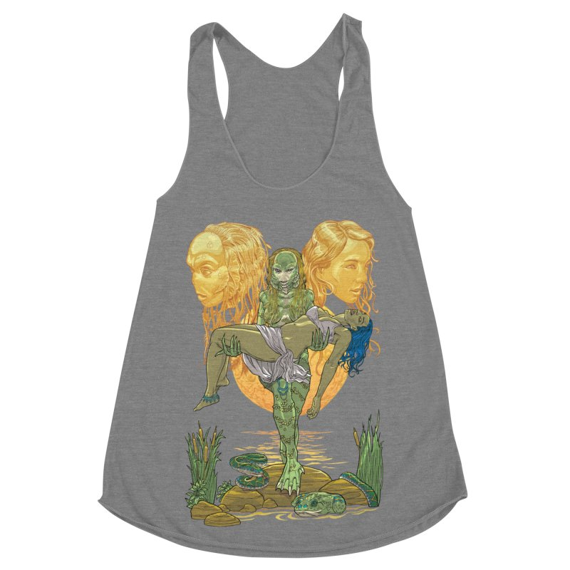 She Creature Women's Racerback Triblend Tank by Ayota Illustration Shop