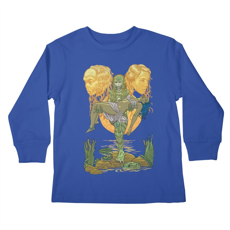 She Creature Kids Longsleeve T-Shirt by Ayota Illustration Shop