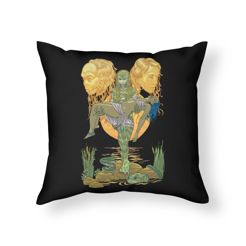 She Creature Home Throw Pillow by Ayota Illustration Shop