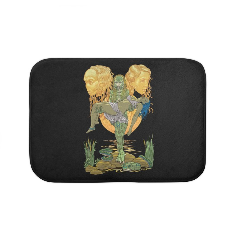 She Creature Home Bath Mat by Ayota Illustration Shop