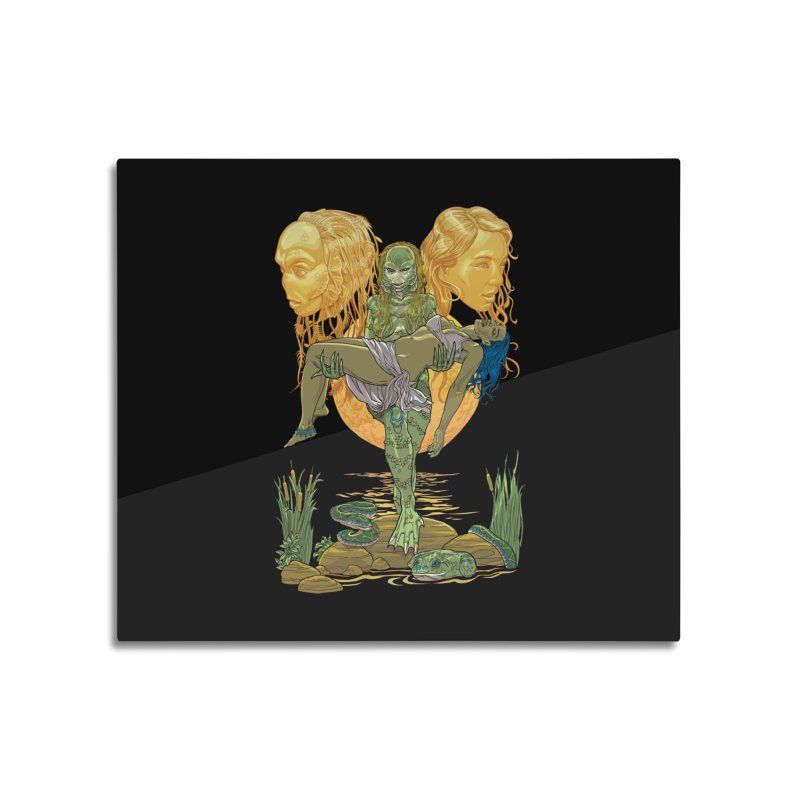 She Creature Home Mounted Aluminum Print by Ayota Illustration Shop