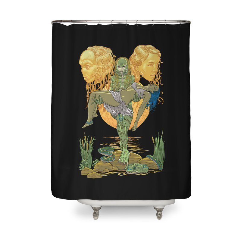 She Creature Home Shower Curtain by Ayota Illustration Shop