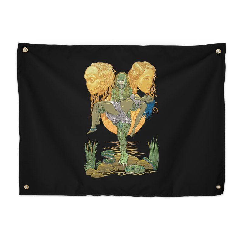 She Creature Home Tapestry by Ayota Illustration Shop