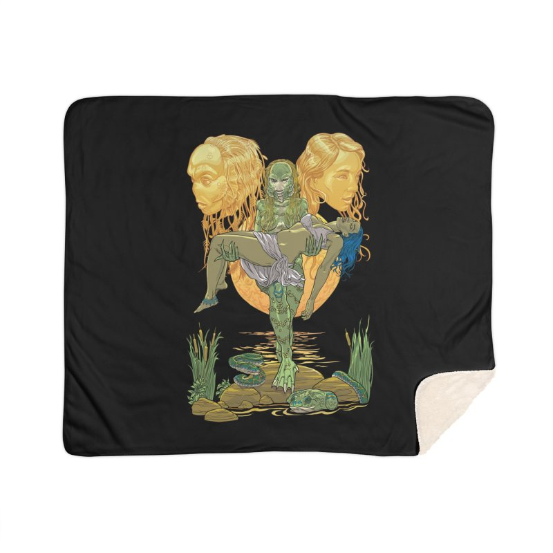 She Creature Home Sherpa Blanket Blanket by Ayota Illustration Shop