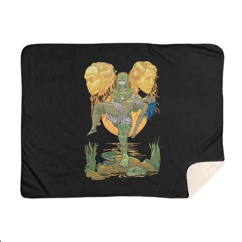 She Creature Home Blanket by Ayota Illustration Shop