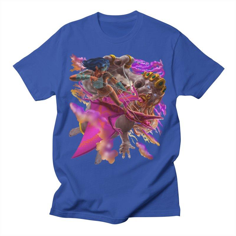 Pterodactyl Warrior vs Giant  Men's T-Shirt by Ayota Illustration Shop