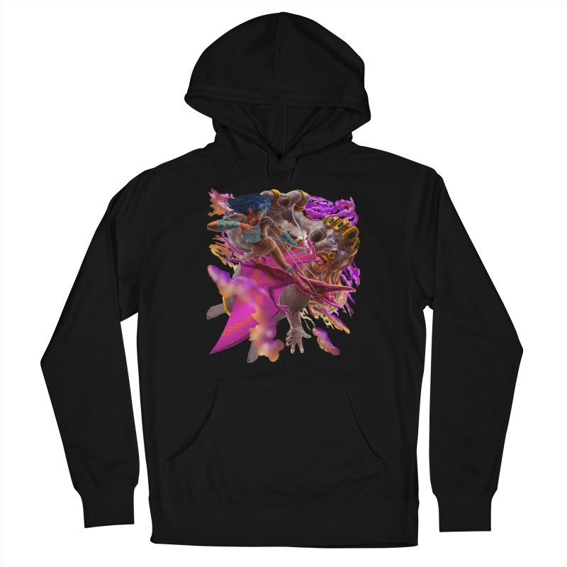 Pterodactyl Warrior vs Giant  Men's Pullover Hoody by Ayota Illustration Shop