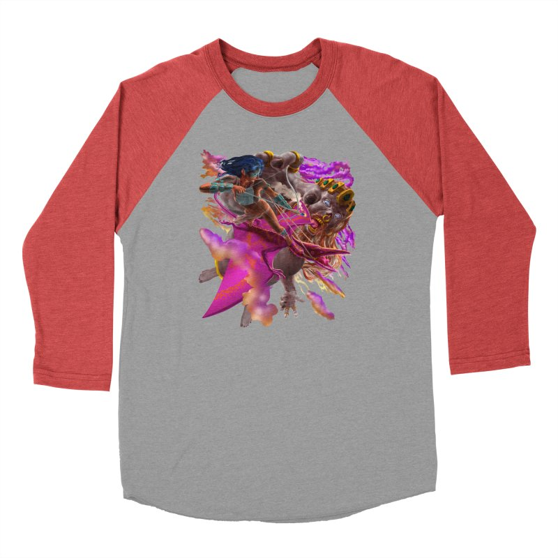 Pterodactyl Warrior vs Giant  Men's Longsleeve T-Shirt by Ayota Illustration Shop