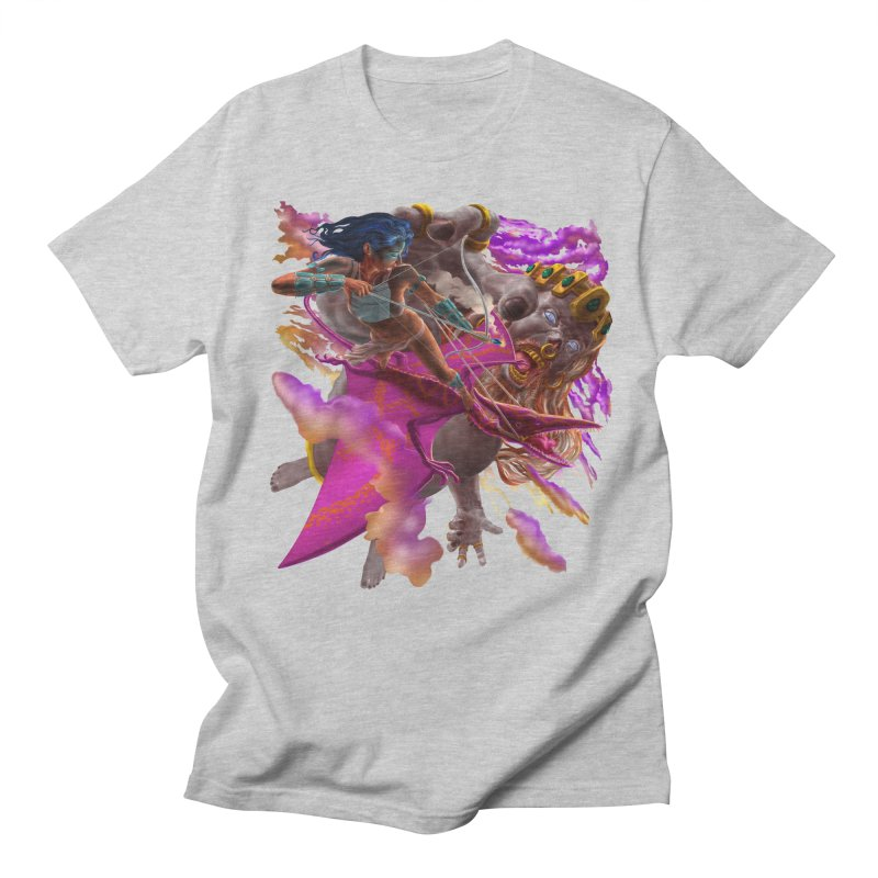 Pterodactyl Warrior vs Giant  Men's T-Shirt by Ayota Illustration Shop
