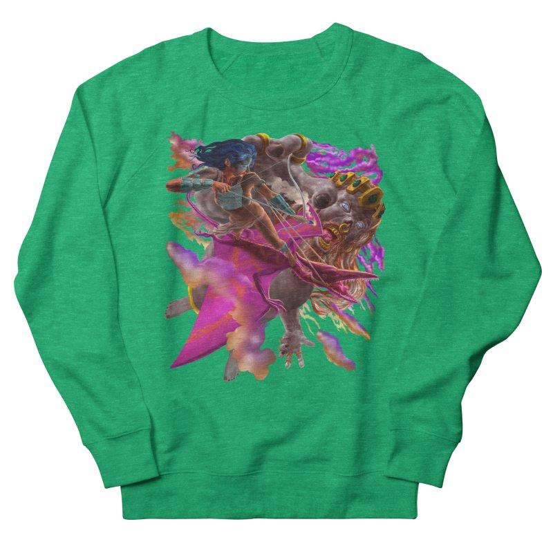 Pterodactyl Warrior vs Giant  Men's Sweatshirt by Ayota Illustration Shop
