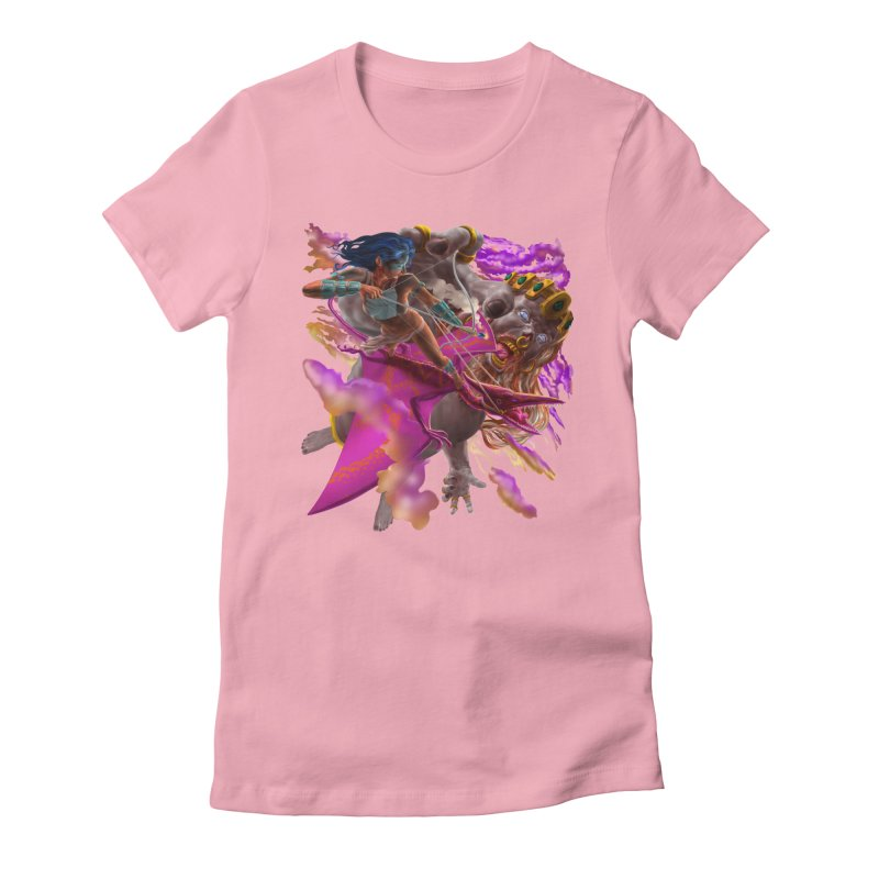 Pterodactyl Warrior vs Giant  Women's T-Shirt by Ayota Illustration Shop