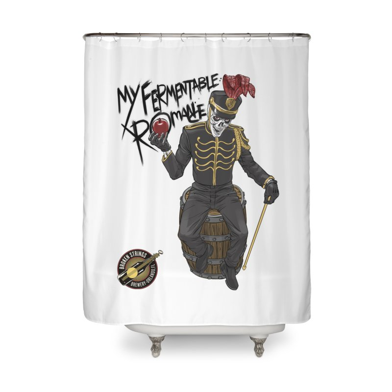 My Fermentable Romance Home Shower Curtain by Ayota Illustration Shop