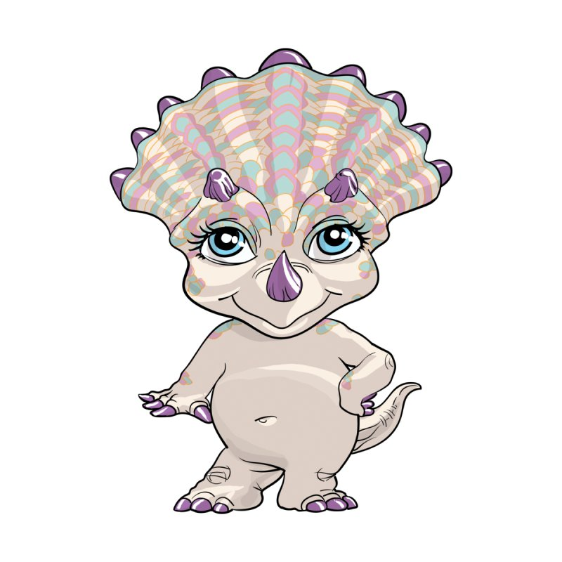 Lil Sassy Triceratops  by Ayota Illustration Shop