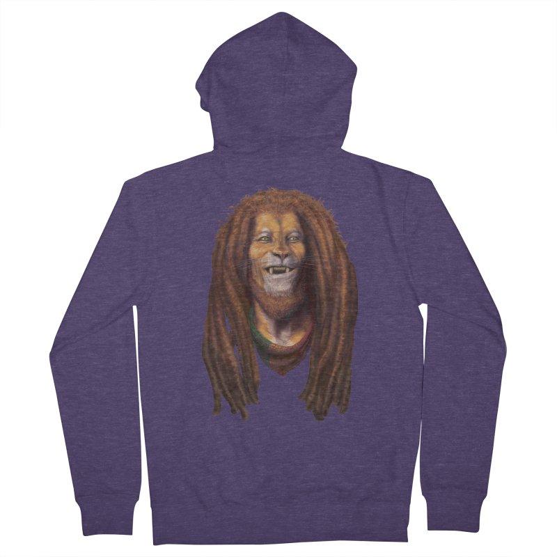 Rasta Lion Men's Zip-Up Hoody by Ayota Illustration Shop