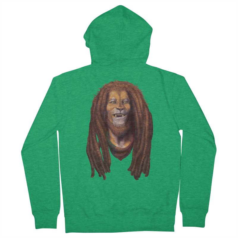 Rasta Lion Men's Zip-Up Hoody by Ayota Illustration Shop