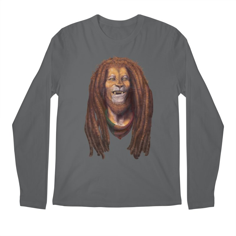Rasta Lion Men's Longsleeve T-Shirt by Ayota Illustration Shop