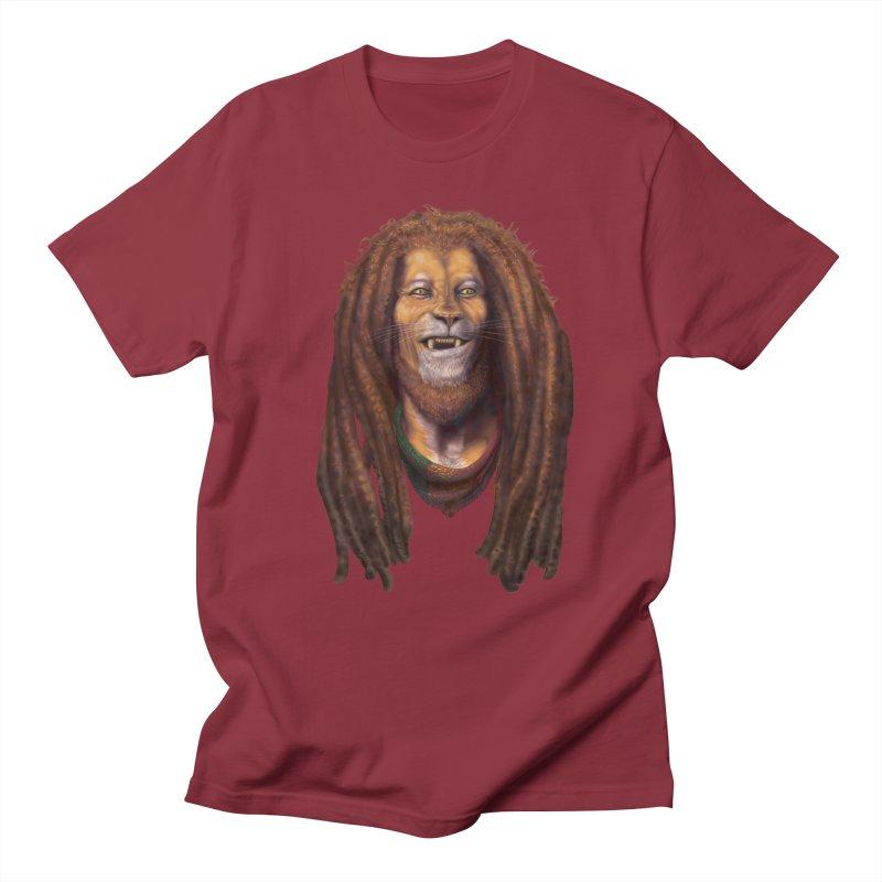 Rasta Lion Men's T-Shirt by Ayota Illustration Shop