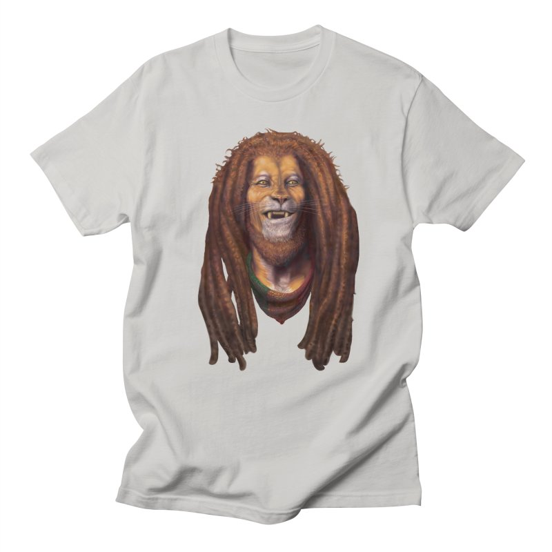 Rasta Lion Men's T-Shirt by Ayota Illustration Shop