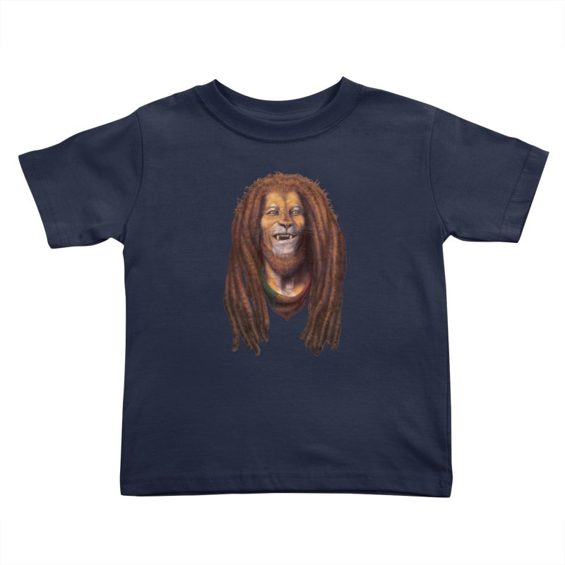 Rasta Lion Kids Toddler T-Shirt by Ayota Illustration Shop