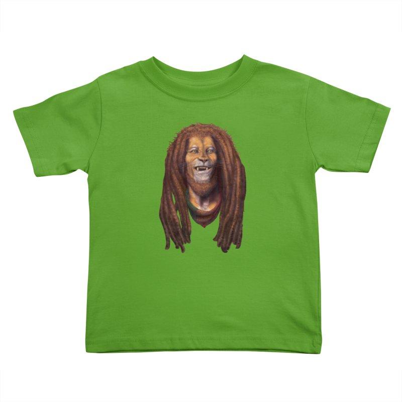 Rasta Lion Kids Toddler T-Shirt by Ayota Illustration Shop