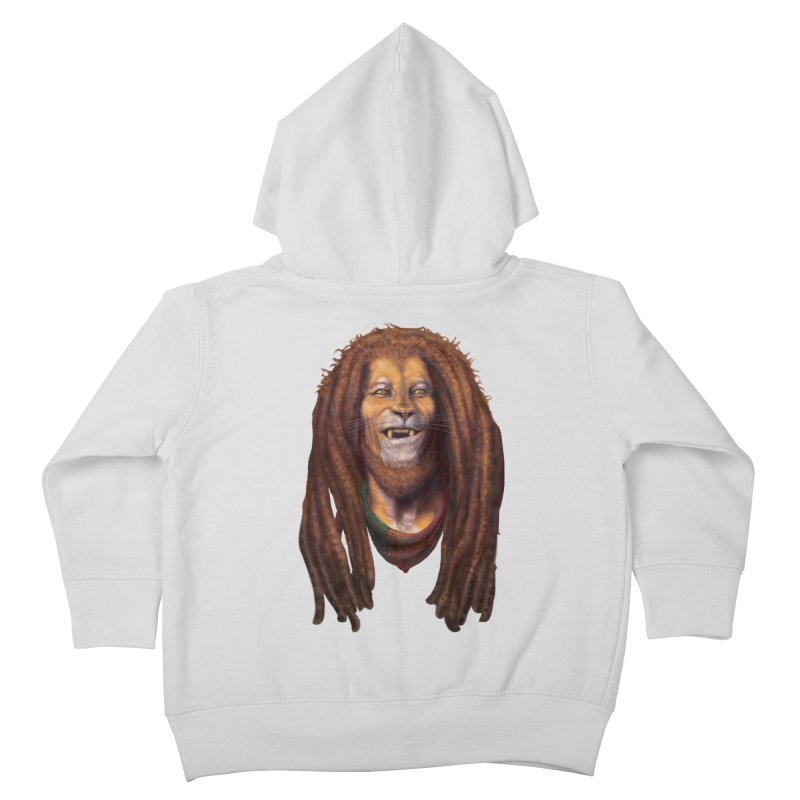 Rasta Lion Kids Toddler Zip-Up Hoody by Ayota Illustration Shop
