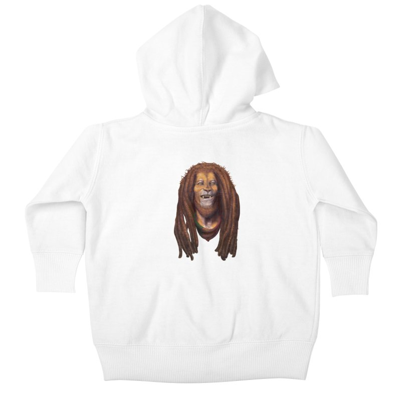 Rasta Lion Kids Baby Zip-Up Hoody by Ayota Illustration Shop