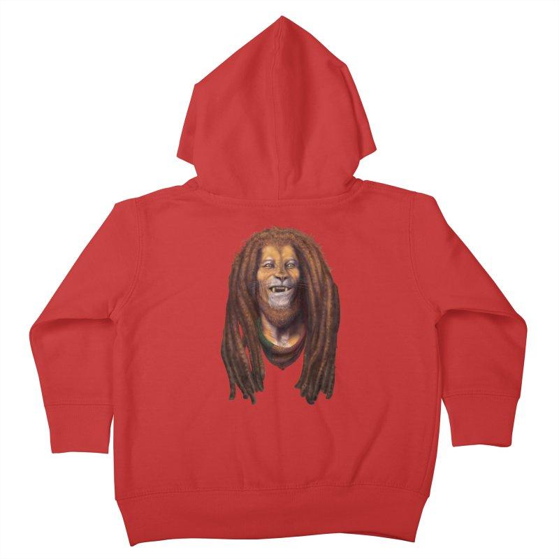 Rasta Lion Kids Toddler Zip-Up Hoody by Ayota Illustration Shop