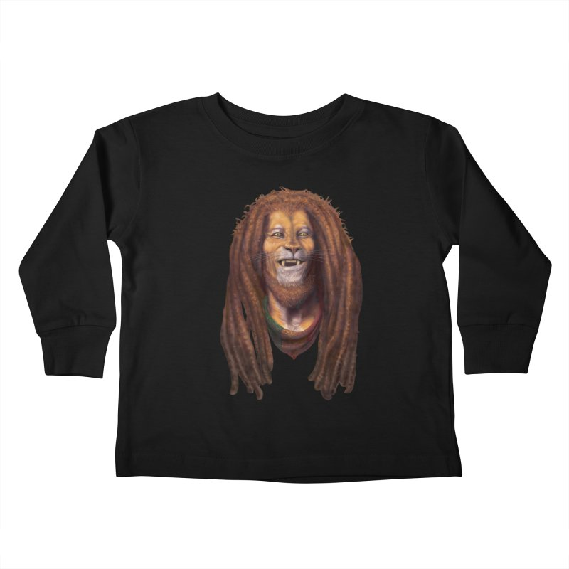 Rasta Lion Kids Toddler Longsleeve T-Shirt by Ayota Illustration Shop