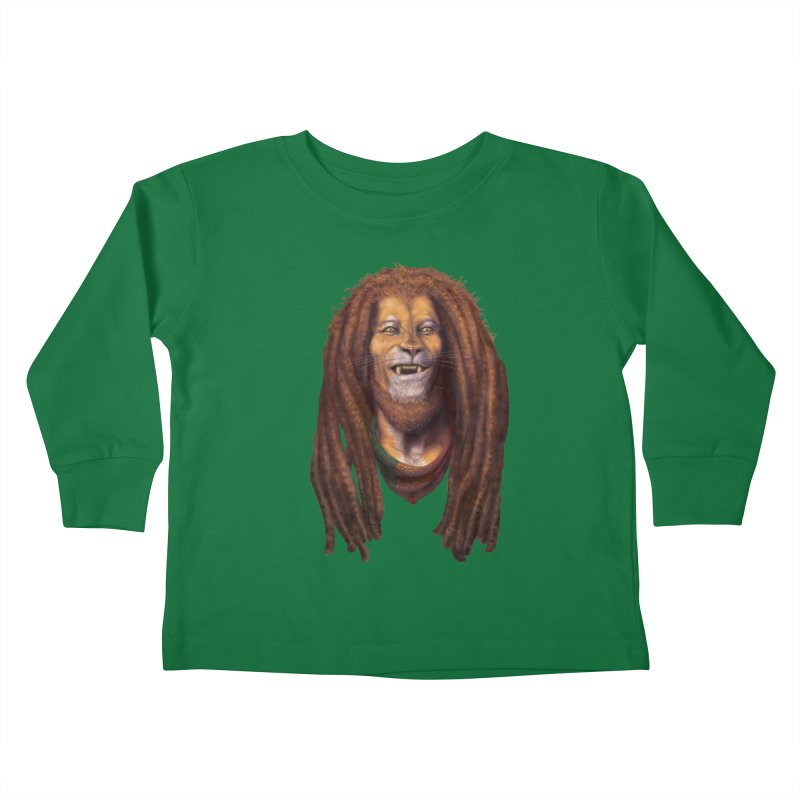 Rasta Lion Kids Toddler Longsleeve T-Shirt by Ayota Illustration Shop