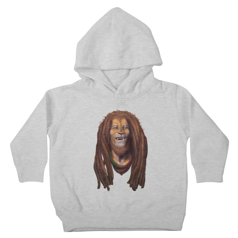 Rasta Lion Kids Toddler Pullover Hoody by Ayota Illustration Shop