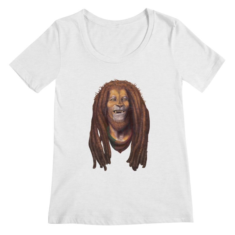 Rasta Lion Women's Scoop Neck by Ayota Illustration Shop