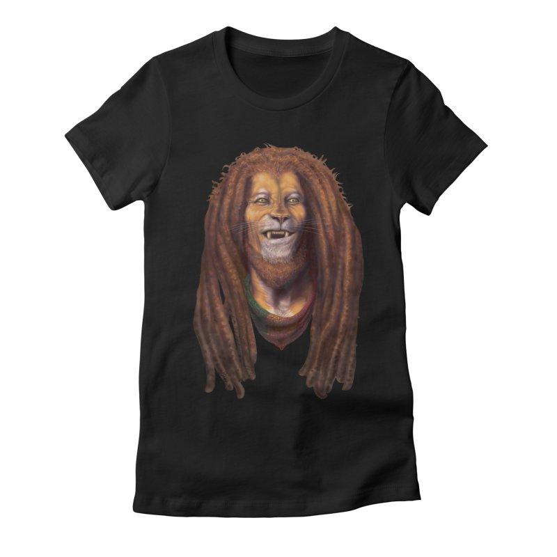 Rasta Lion Women's T-Shirt by Ayota Illustration Shop