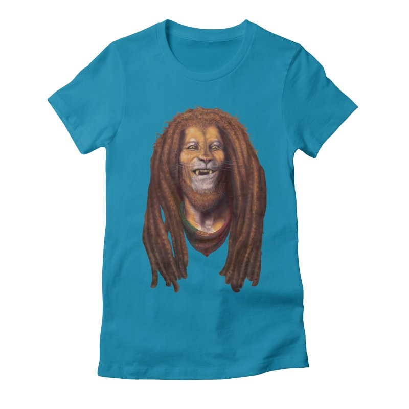 Rasta Lion Women's T-Shirt by Ayota Illustration Shop