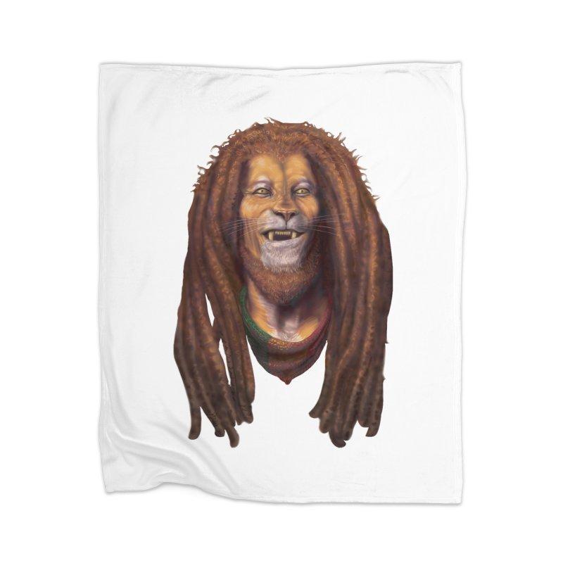 Rasta Lion Home Blanket by Ayota Illustration Shop