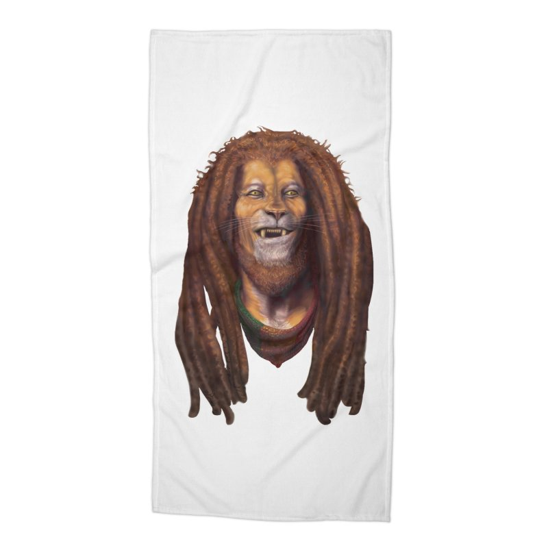 Rasta Lion Accessories Beach Towel by Ayota Illustration Shop