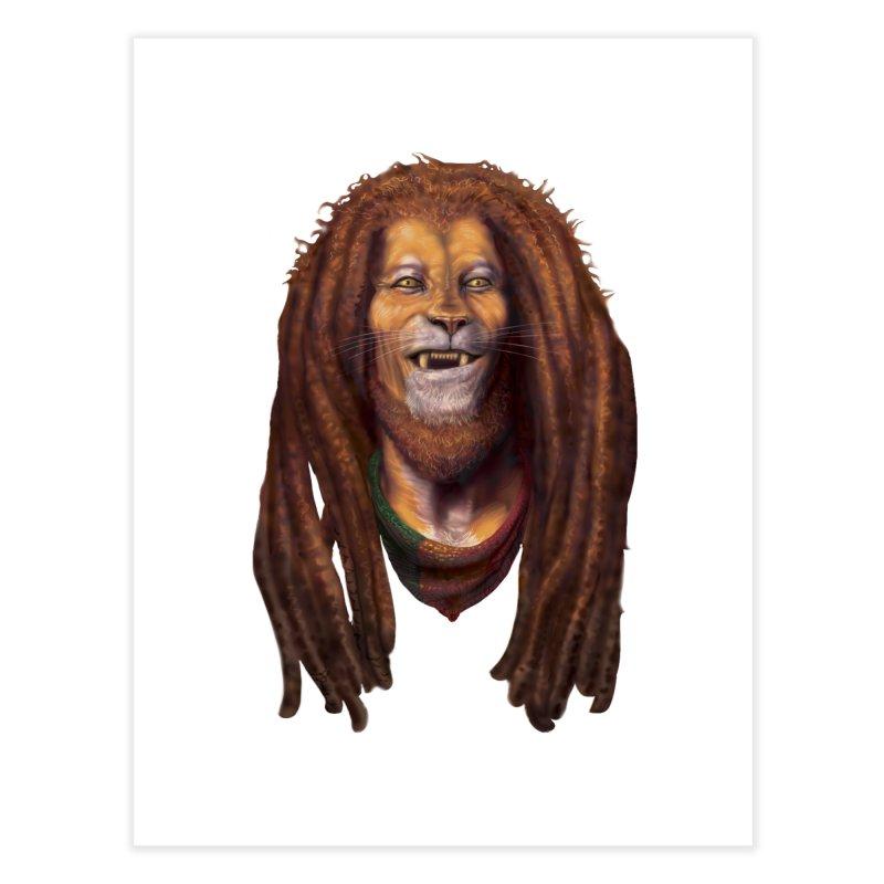 Rasta Lion Home Fine Art Print by Ayota Illustration Shop