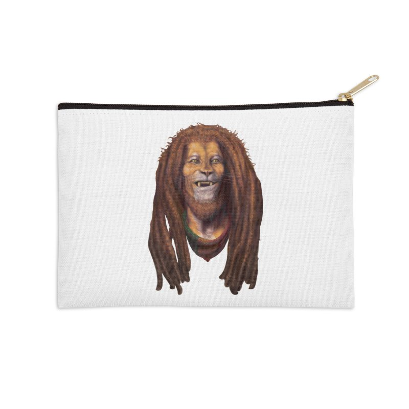 Rasta Lion Accessories Zip Pouch by Ayota Illustration Shop