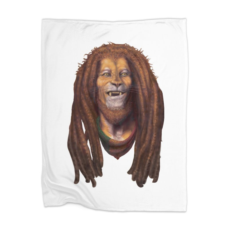 Rasta Lion Home Blanket by Ayota Illustration Shop