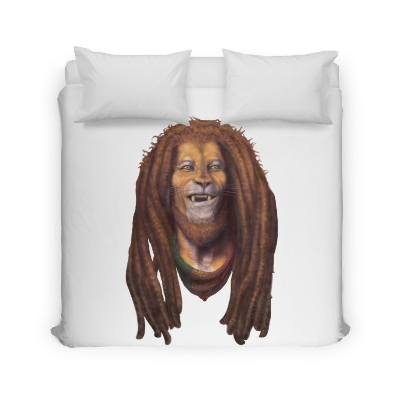 Rasta Lion Home Duvet by Ayota Illustration Shop