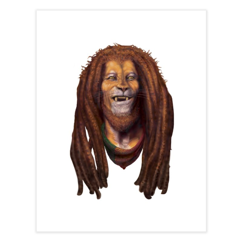 Rasta Lion Home Fine Art Print by Ayota Illustration Shop