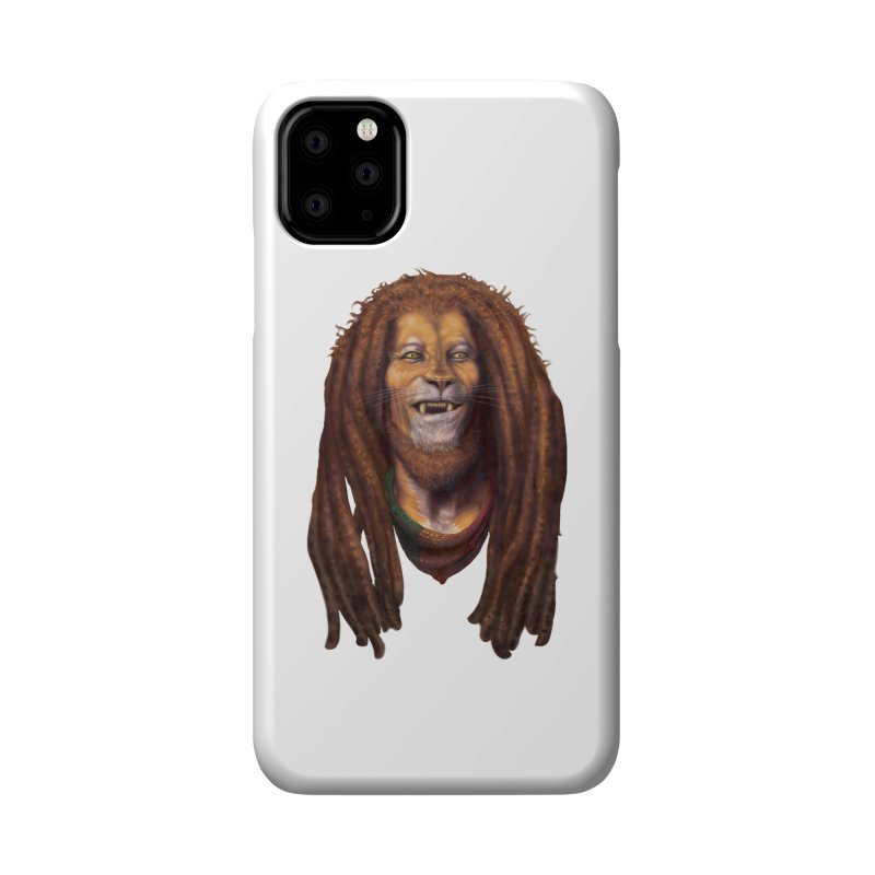 Rasta Lion Accessories Phone Case by Ayota Illustration Shop