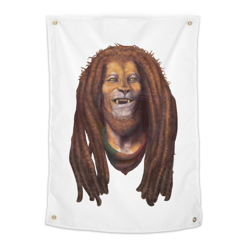Rasta Lion Home Tapestry by Ayota Illustration Shop