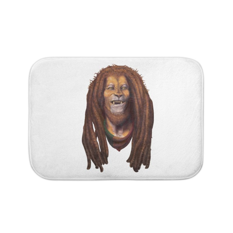 Rasta Lion Home Bath Mat by Ayota Illustration Shop